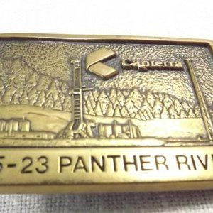 Canterra Solid Brass Mining/Oilfield Belt Buckle